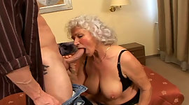 Erotic granny boned rough in a doggy..