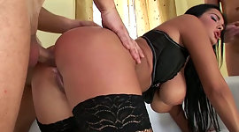 Big dicked gent pounds buxom porn..