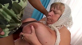 Ugly BBW grandma sucking ripe ebony..