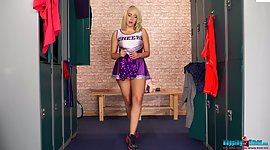 Fat cheerleader Millie Rose gets bare..