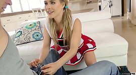 Small tittied cheerleader Lilly Ford..