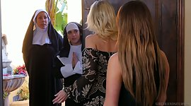 Sinful nuns are making love with..