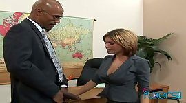 Interracial office  with her boss is..