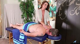 Sexually charged masseuse Silvia Saige..