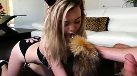 Pretty hot chick in kitty tool Lexi..