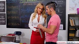 Horny buxom mentor Brandi Love gives a..