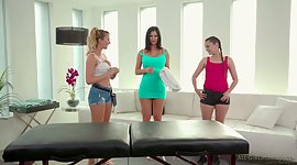 Masseuse Brett Rossi and her co-worker..