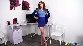 Appealing office chick Esme catches in..