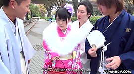 Japanese gangbang video featuring..