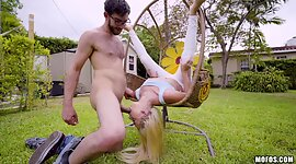 Bitty tittied blondie Riley Star and..