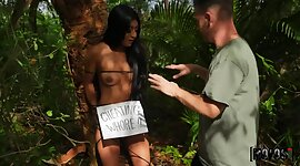 Nude linked up hottie is punished for..