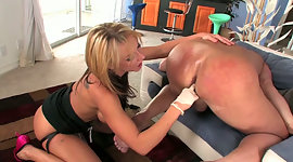Larger breasted fair-haired domme..