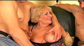 Blonde granny easily takes the..